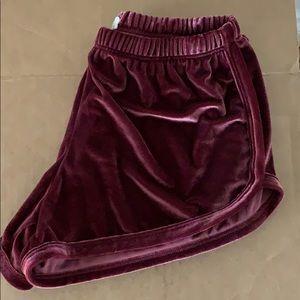 John Galt Velvet Shorts